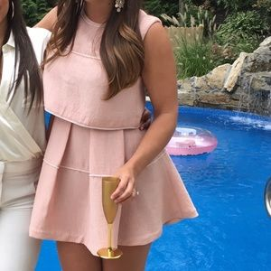 Sandro pink dress with pearl details WORN ONCE